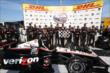 Will Power and Team Penske pose in Victory Circle after winning the ABC Supply Wisconsin 250 at the Milwaukee Mile -- Photo by: Chris Jones