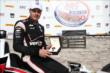 Will Power in Victory Circle with his new Tag Heuer watch after winning the ABC Supply Wisconsin 250 at the Milwaukee Mile -- Photo by: Chris Jones