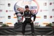 Will Power sits in Victory Circle after winning the ABC Supply Wisconsin 250 at the Milwaukee Mile -- Photo by: Chris Jones