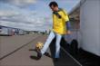 Carlos Huertas (Colombia) shows off some futbol skills during the World Cup Watch Party at Pocono Raceway -- Photo by: Chris Jones