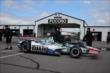 The National Guard car of Graham Rahal rolls through the Pocono Raceway paddock -- Photo by: Chris Jones