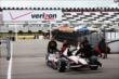 Will Power's car is rolled to the paddock at Pocono Raceway -- Photo by: Chris Jones