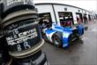 The car of Carlos Huertas enters the garage area at Pocono Raceway -- Photo by: Chris Owens