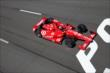 Tony Kanaan streaks to the start/finish line during practice at Pocono Raceway -- Photo by: Bret Kelley