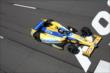 Marco Andretti streaks toward the start/finish line during practice at Pocono Raceway -- Photo by: Bret Kelley