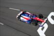 Takuma Sato streaks to the start/finish line during practice at Pocono Raceway -- Photo by: Bret Kelley