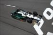 Ed Carpenter streaks toward the start/finish line during practice at Pocono Raceway -- Photo by: Bret Kelley