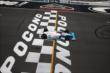 James Hinchcliffe crosses the start/finish line during practice at Pocono Raceway -- Photo by: Bret Kelley