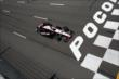Will Power streaks toward the start/finish line during practice at Pocono Raceway -- Photo by: Bret Kelley