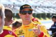 Ryan Hunter-Reay on pit lane prior to qualifications for the Pocono INDYCAR 500 -- Photo by: Bret Kelley