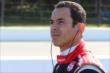 Helio Castroneves waits on pit lane prior to qualifications for the Pocono INDYCAR 500 -- Photo by: Bret Kelley