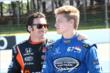 Simon Pagenaud and Josef Newgarden on pit lane prior to qualifications for the Pocono INDYCAR 500 -- Photo by: Bret Kelley