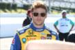 Marco Andretti on pit lane prior to qualifications for the Pocono INDYCAR 500 -- Photo by: Bret Kelley