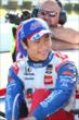 Takuma Sato is all smiles after his qualification attempt at Pocono Raceway for the Pocono INDYCAR 500 -- Photo by: Bret Kelley