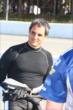 Juan Pablo Montoya on pit lane prior to qualifications for the Pocono INDYCAR 500 -- Photo by: Bret Kelley