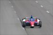 Takuma Sato streaks down the frontstretch during practice at Pocono Raceway -- Photo by: Bret Kelley