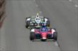 Takuma Sato and Josef Newgarden streak down the frontstretch during practice at Pocono Raceway -- Photo by: Bret Kelley