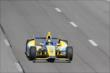 Marco Andretti streaks down the frontstretch during practice at Pocono Raceway -- Photo by: Bret Kelley