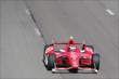 Scott Dixon streaks down the frontstretch during practice at Pocono Raceway -- Photo by: Bret Kelley