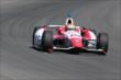 Justin Wilson exits Turn 3 during practice at Pocono Raceway -- Photo by: Bret Kelley