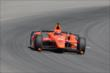 Simon Pagenaud exits Turn 3 during practice at Pocono Raceway -- Photo by: Bret Kelley
