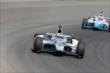 Graham Rahal leads James Hinchcliffe exiting Turn 3 during practice at Pocono Raceway -- Photo by: Bret Kelley