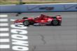 Scott Dixon crosses the start/finish line during practice at Pocono Raceway -- Photo by: Bret Kelley