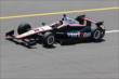 Will Power exits pit lane during practice at Pocono Raceway -- Photo by: Bret Kelley