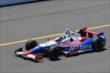Ryan Briscoe exits pit lane to join track activity during practice at Pocono Raceway -- Photo by: Bret Kelley