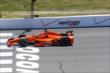 Simon Pagenaud crosses the start/finish line during practice at Pocono Raceway -- Photo by: Bret Kelley