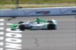Carlos Munoz crosses the start/finish line during practice at Pocono Raceway for the Pocono INDYCAR 500 -- Photo by: Bret Kelley