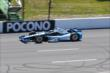 Juan Pablo Montoya on course during qualifications for the Pocono INDYCAR 500 -- Photo by: Bret Kelley