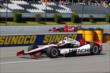 Helio Castroneves joins the track activity during practice at Pocono Raceway -- Photo by: Chris Jones