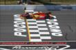 Sebastian Saavedra crosses the start/finish line during practice at Pocono Raceway -- Photo by: Chris Jones