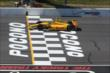 Ryan Hunter-Reay crosses the start/finish line during practice at Pocono Raceway -- Photo by: Chris Jones