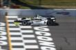 Josef Newgarden crosses the start/finish line during practice at Pocono Raceway -- Photo by: Chris Jones