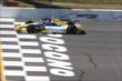 Marco Andretti crosses the start/finish line during practice at Pocono Raceway -- Photo by: Chris Jones