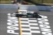 Ed Carpenter crosses the start/finish line during practice at Pocono Raceway -- Photo by: Chris Jones