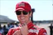 Scott Dixon on pit lane during qualifications for the Pocono INDYCAR 500 at Pocono Raceway -- Photo by: Chris Jones