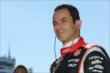Helio Castroneves on pit lane prior to qualifications for the Pocono INDYCAR 500 at Pocono Raceway -- Photo by: Chris Jones