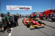 The car of Sebastian Saavedra is rolled out to pit late at Pocono Raceway -- Photo by: Chris Jones