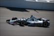 Graham Rahal enters Turn 1 during practice at Pocono Raceway for the 2014 Pocono INDYCAR 500 -- Photo by: Chris Jones