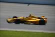 Ryan Hunter-Reay enters Turn 1 during practice at Pocono Raceway for the 2014 Pocono INDYCAR 500 -- Photo by: Chris Jones