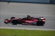 Sebastien Bourdais enters Turn 1 during practice at Pocono Raceway for the 2014 Pocono INDYCAR 500 -- Photo by: Chris Jones