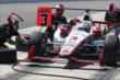 Team Penske simulates a pit stop for Helio Castroneves during practice at Pocono Raceway for the 2014 Pocono INDYCAR 500 -- Photo by: Chris Jones