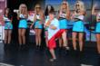 The UFD Girls cheer on a young dancer in the INDYCAR Fan Village at Pocono Raceway -- Photo by: Chris Jones