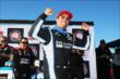 Juan Pablo Montoya wins the Verizon P1 Award for claiming the pole for the Pocono INDYCAR 500 at Pocono Raceway -- Photo by: Chris Jones