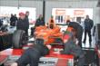 Simon Pagenaud's car goes through tech inspection at Pocono Raceway -- Photo by: Chris Owens