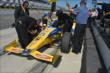 Marco Andretti prepares for practice for the Pocono INDYCAR 500 at Pocono Raceway -- Photo by: Chris Owens