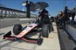 Will Power on pit lane prior to practice for the Pocono INDYCAR 500 at Pocono Raceway -- Photo by: Chris Owens